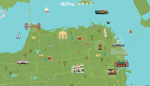 サンフランシスコの地図