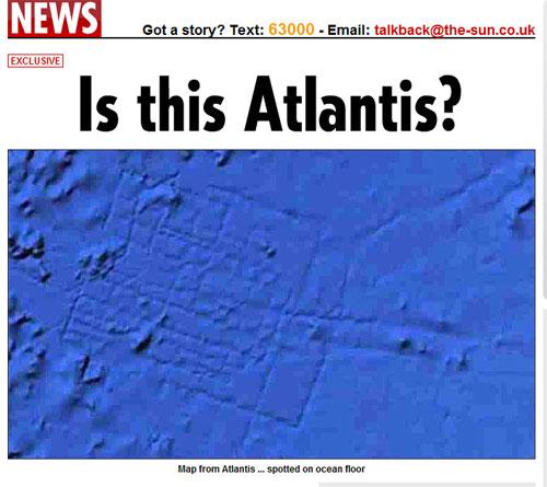 アトランティス大陸?