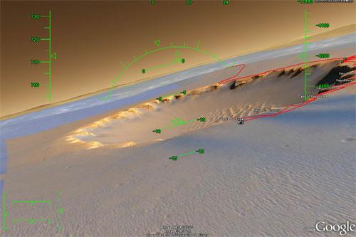 火星でフライトシミュレーター