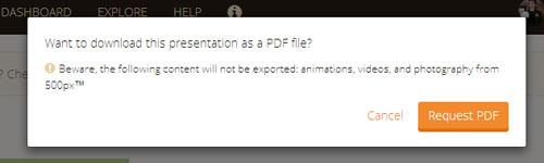 PDF形式でのエクスポート