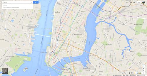 ニューヨーク(NYC)地下鉄路線図