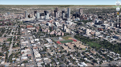 グーグルアースで見るデンバー(Denver)