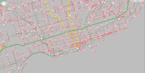 トロント地下鉄路線図