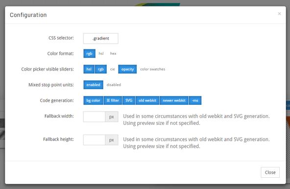 「Config」ボタンを押せば、CSS周りの設定もおこなえます。