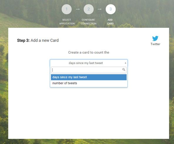Twitterのカードを追加。
