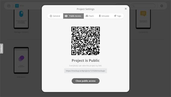 プロジェクトを「公開」状態にしたもの。