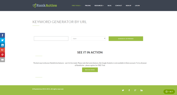 KEYWORD GENERATOR BY URL
