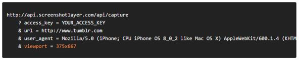 サムネイルのサイズを指定したり、ビューポートやユーザーエージェントを変更したりなんてこともできます。