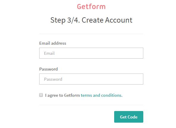 メールアドレスとパスワードの設定。