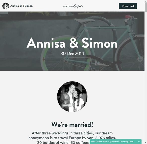 結婚式案内サイトのファーストビュー。