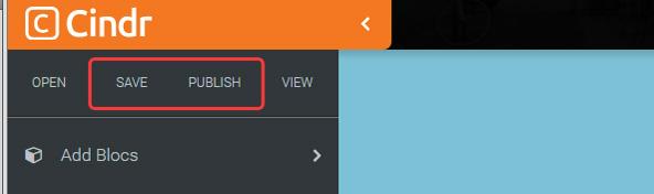 「SAVE」したあとに「PUBLISH」することで、外部に公開されたサイトが更新されます。